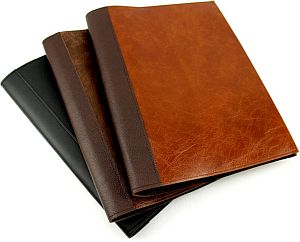 Leather display-covers