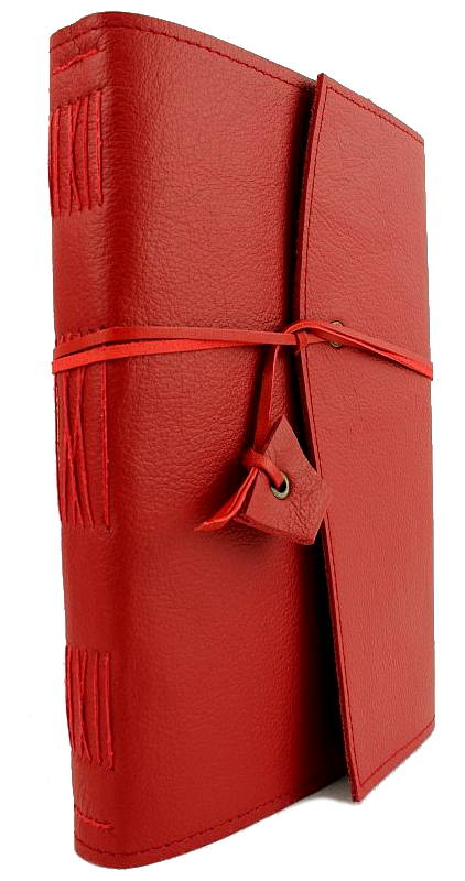 Travel Journal in Red Leather